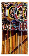 Maasai Wedding Necklaces Beach Towel