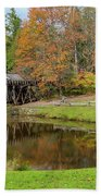 Mabry Mill In Fall 1 Beach Towel