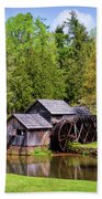 Mabry Mill In The Springtime On The Blue Ridge Parkway  Beach Sheet by Kerri Farley
