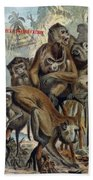 Macaques For Responsible Travel Beach Towel