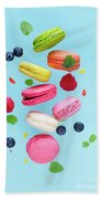 Falling In Love With Macaroons  Beach Towel
