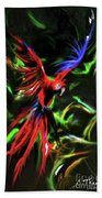 Macaw Parrot  Beach Towel