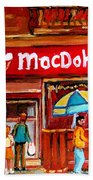 Macdohertys Icecream Parlor Beach Towel