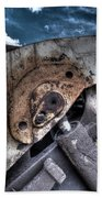 Machine Rust Hydraulic Ram Beach Towel
