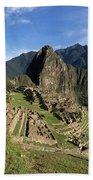 Machu Picchu And Bromeliad Beach Towel