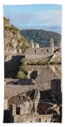 Machu Picchu City Archecture Beach Towel