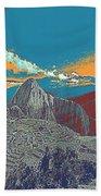 Machu Picchu Travel Poster Beach Towel