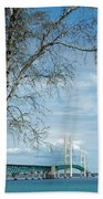 Mackinac Bridge Birch Beach Towel