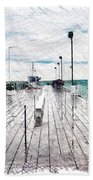 Mackinac Island Michigan Shuttle Pier Pa 02 Beach Towel
