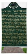 Mackinaw Conference Signage Mackinac Island Michigan Vertical Beach Towel