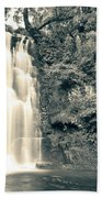 Maclean Falls New Zealand Beach Towel