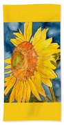 Macro Sunflower Art Beach Towel