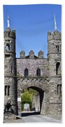 Macroom Castle Ireland Beach Towel