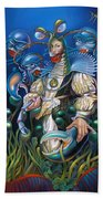 Madame Clawdia D'bouclier From Mask Of The Ancient Mariner Beach Towel