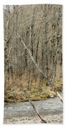 Madawaska Stream Bend Beach Towel