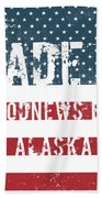 Made In Goodnews Bay, Alaska Beach Towel