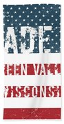 Made In Green Valley, Wisconsin Beach Towel