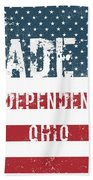 Made In Independence, Ohio Beach Towel
