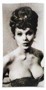 Madeline Smith, Vintage Actress Beach Towel