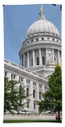 Madison Wi State Capitol Beach Towel by Anita Burgermeister
