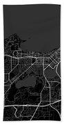 Madison Wisconsin Usa Dark Map Beach Towel