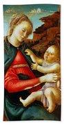 Madonna And Child 1470 Beach Towel