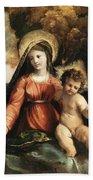 Madonna And Child 1525 Beach Towel