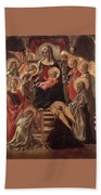 Madonna And Child Enthroned With Saints Fra Filippo Lippi Beach Towel
