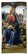 Madonna And Child Beach Towel by Filippino Lippi