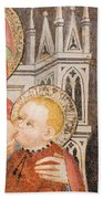 Madonna And Child Fresco, Italy Beach Sheet