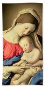 Madonna And Child Beach Towel by Il Sassoferrato