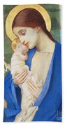 Madonna And Child Beach Towel by Marianne Stokes