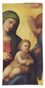 Madonna And Child With Angels Beach Towel