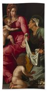 Madonna And Child With Saint Elizabeth And Saint John The Baptist Beach Towel