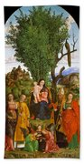 Madonna And Child With Saints Beach Towel