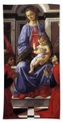 Madonna And Child With Six Saints Beach Towel