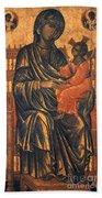 Madonna Icon, 13th Century Beach Towel