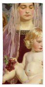 Madonna Of Giverny, 1901 Detail Beach Towel