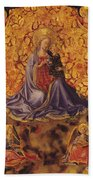 Madonna Of Humility With Christ Child And Angels Beach Towel