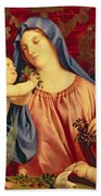Madonna Of The Cherries With Joseph Beach Towel
