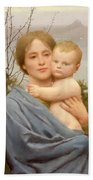 Madonna Of The Mount  Beach Towel