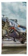 Madras Maiden B-17 Bomber Beach Towel