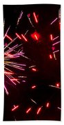 Magenta And Red Beach Towel