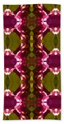 Magenta Crystal Pattern Beach Towel