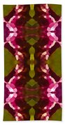Magenta Crystals Pattern 2 Beach Towel