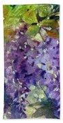 Magic In Purples And Greens Beach Towel