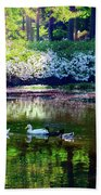 Magical Beauty At The Azalea Pond Beach Towel