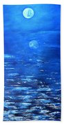Magical Full Moon Beach Towel