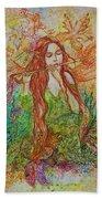 Magical Song Of Autumn Beach Towel