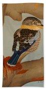 Magnificent Blue-winged Kookaburra Beach Towel by Brian Leverton